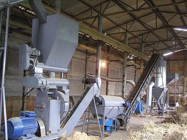 Лінія гранулювання з виробництва пелет з лушпиння соняшнику