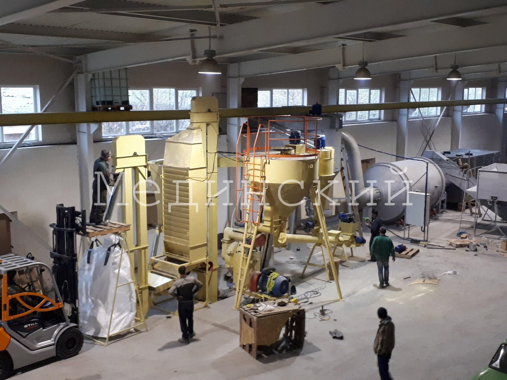 The Service Support for the pelletizers and the production lines